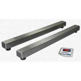 Barras pesadoras BR Inox. de 1250 mm. de 3000 Kg. / 1 Kg. con Visor BR15