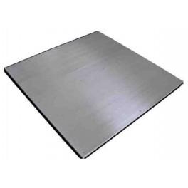 Plataforma PTB total inox. 1500 Kg. / 500 gr. medidas: 1500x1500 mm. con Visor BR30 Inox