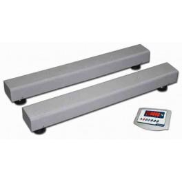 Barras pesadoras BR de 1250 mm. de 1500 Kg. / 500 gr. con Visor BR80